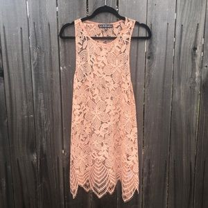 For love and lemons lace sheer dress